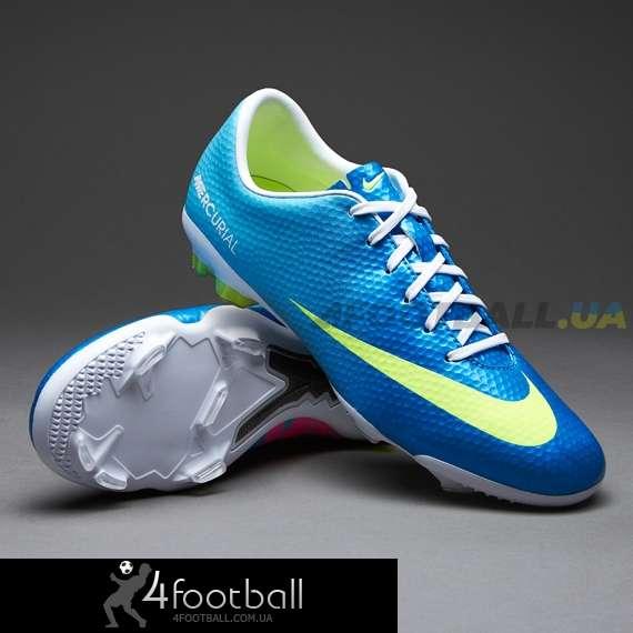 c017fe04 Детские бутсы Nike - Mercurial Vapor IX FG (blue-volt) купить у ...
