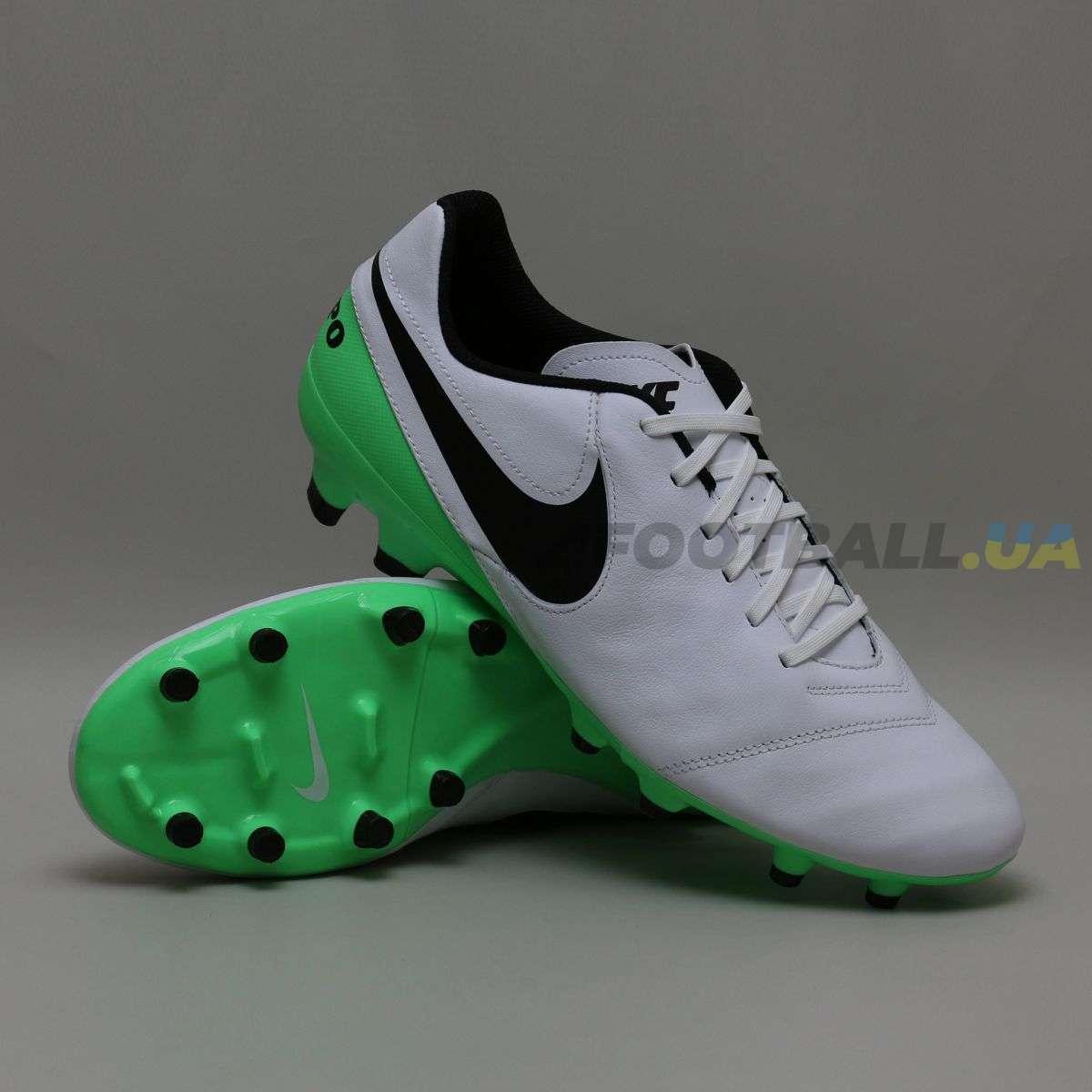 b6d202e2 Бутсы Nike Tiempo GENIO II Leather FG 819213-103 White купить на ...