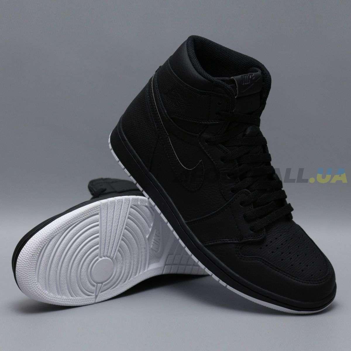 Баскетбольные кроссовки NIKE Air Jordan 1 High Blackout 555088-002 ... 7008deeced9