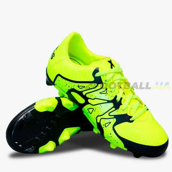a50c1a97db2c Детские Бутсы Adidas X 15.3 FG AG Junior B26997 cactus — купить в ...