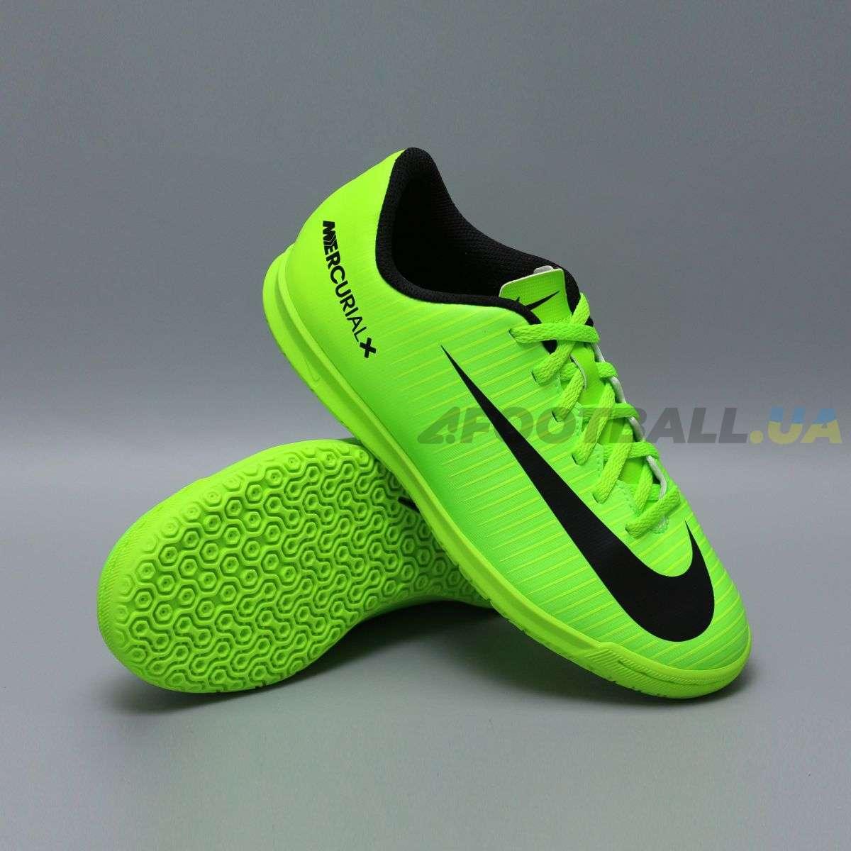 Детские футзалки Nike JR MERCURIALX VORTEX III IC 831953-303 kiwi ... 1d65316a687