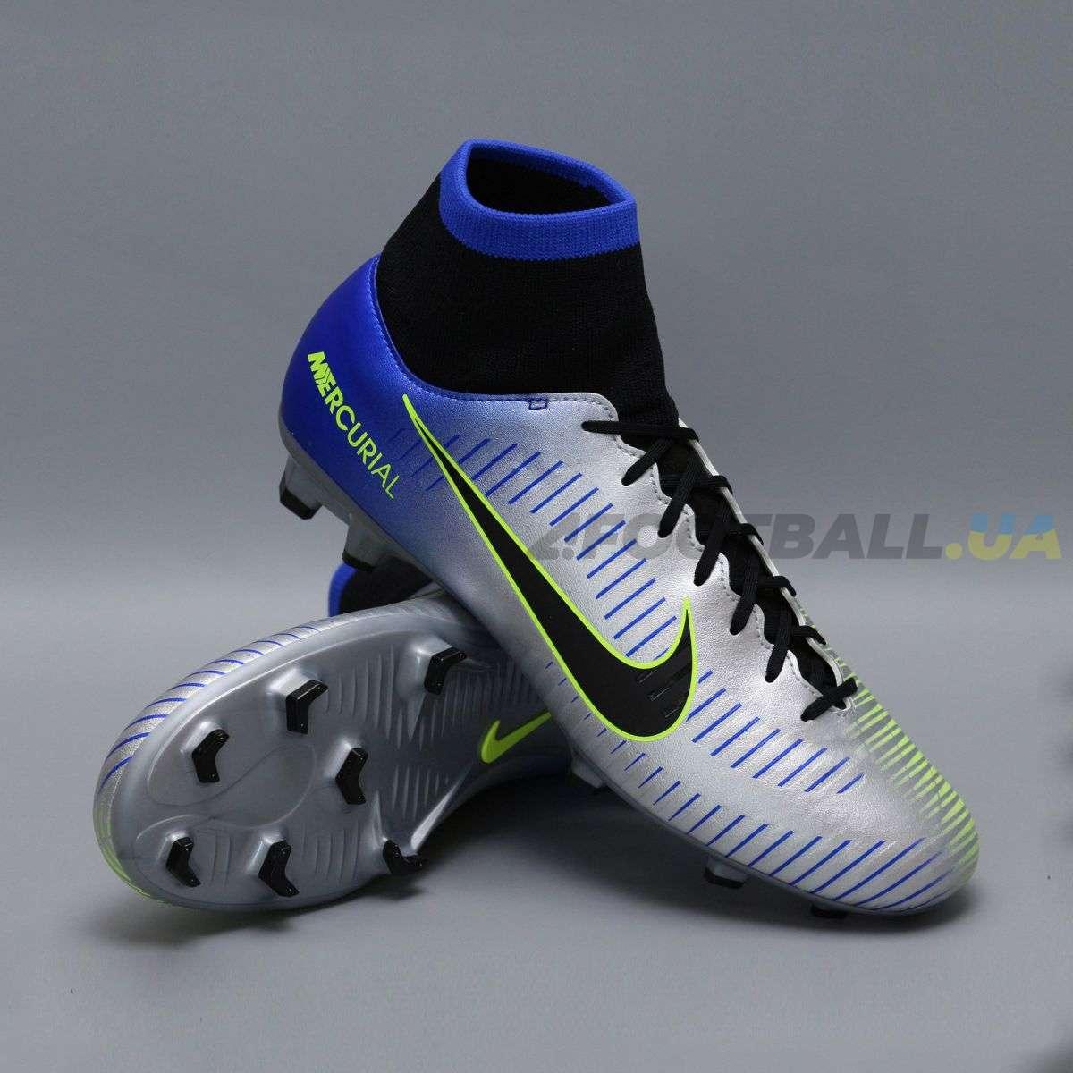 864ddf221eac8c Бутсы с носком nike mercurial victory NEYMAR-R9 921506-407 Chrome|Blue ...