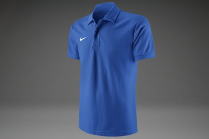 ПОЛО NIKE TS CORE POLO ЯРКО СИНЯЯ 454800-463