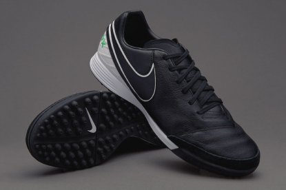 СОРОКОНОЖКИ NIKE TIEMPOX MYSTIC V TF 819224-002 black-mint | 819224-002 | 4football.com.ua