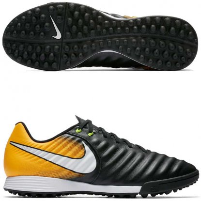 Сороконожки NIKE TIEMPOX LIGERA IV TF | 897766-008 | Black/Orange | 897766-008 | 4football.com.ua