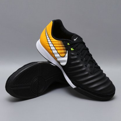 ФУТЗАЛКИ NIKE TIEMPOX LIGERA IV IC 897765-008 black-orange | 897765-008 | 4football.com.ua