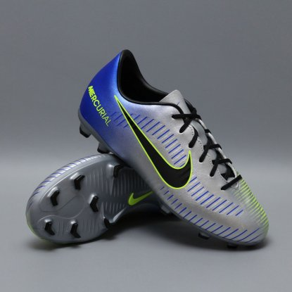 Детские бутсы nike mercurial victory NEYMAR-R9 921488-407 Chrome|Blue