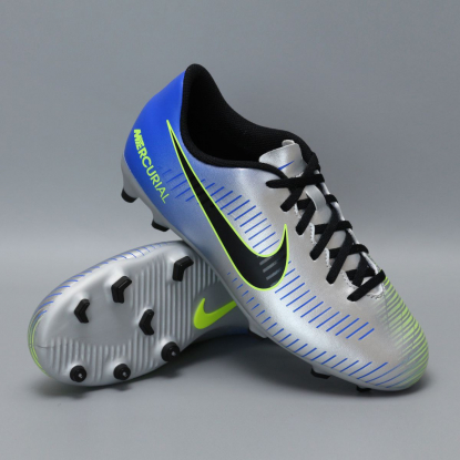 Детские бутсы nike mercurial vortex NEYMAR-R9 921490-407 Chrome|Blue