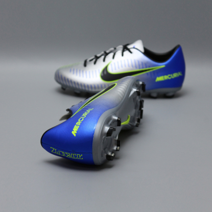 Детские бутсы nike mercurial victory NEYMAR-R9 921488-407 Chrome|Blue  2