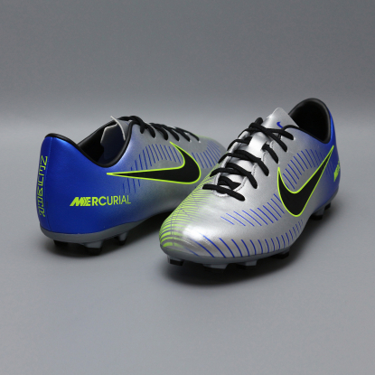 Детские бутсы nike mercurial victory NEYMAR-R9 921488-407 Chrome|Blue  3