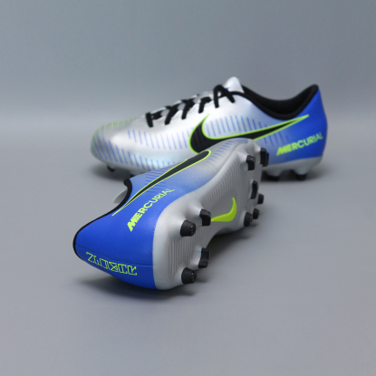Детские бутсы nike mercurial vortex NEYMAR-R9 921490-407 Chrome|Blue  2