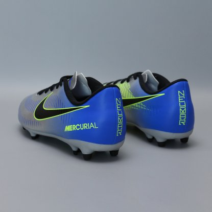 Детские бутсы nike mercurial vortex NEYMAR-R9 921490-407 Chrome|Blue  4