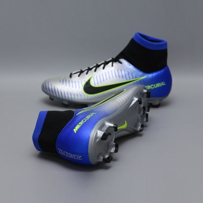 Бутсы с носком nike mercurial victory NEYMAR-R9 921506-407 Chrome|Blue  2