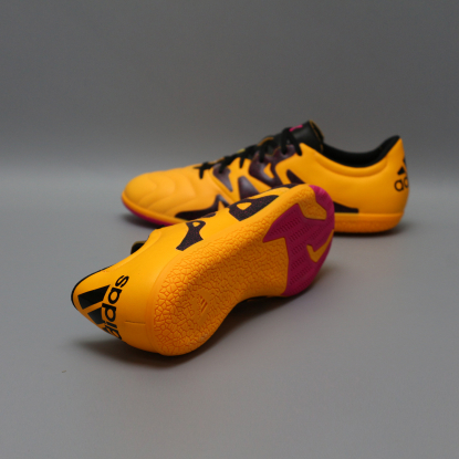 Футзалки ADIDAS X 15.3 Leather IN S74655 ORANGE  2