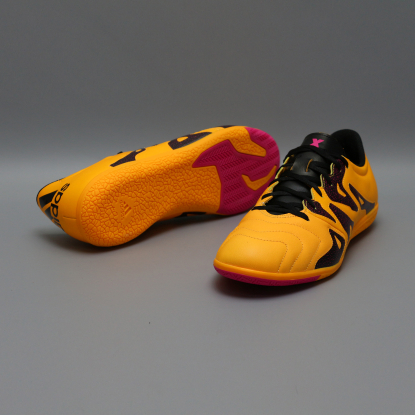 Футзалки ADIDAS X 15.3 Leather IN S74655 ORANGE  3