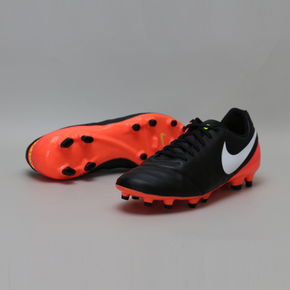 Бутсы Nike Tiempo GENIO II Leather FG 819213-018 Black/Orange 819213-018 #6