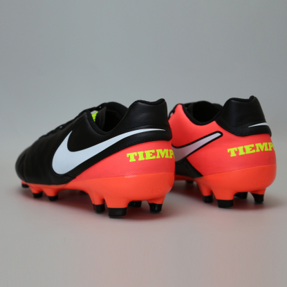 Бутсы Nike Tiempo GENIO II Leather FG 819213-018 Black/Orange 819213-018 #3