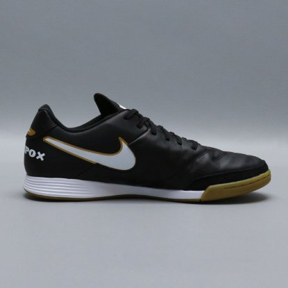Футзалки Nike Tiempo GENIO II Leather IC - Black/Gold  4