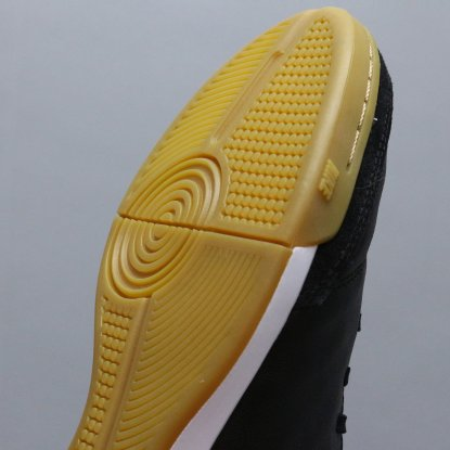 Футзалки Nike Tiempo GENIO II Leather IC - Black/Gold  6