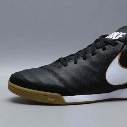 Футзалки Nike Tiempo GENIO II Leather IC - Black/Gold  5