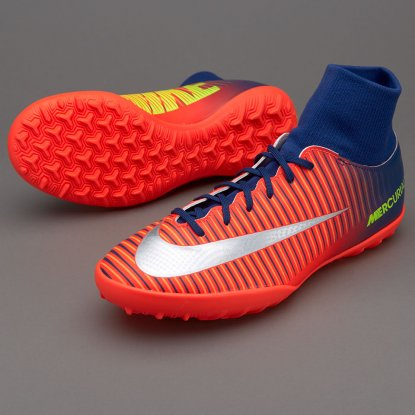 Детские сороконожки NIKE MERCURIALX VICTORY VI DF TF 903604-409 red-sky | 903604-409 | 4football.com.ua