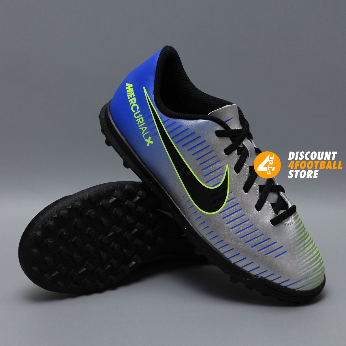 7954dfdc572a Детские сороконожки Nike Mercurial Vortex NEYMAR-R9 921497-407 Chrome Blue  ...