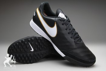 Сороконожки Nike Tiempo GENIO II Leather TF - Black/Gold