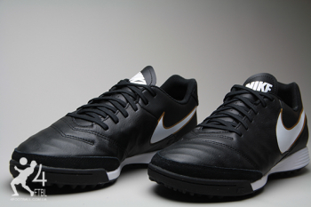 Сороконожки Nike Tiempo GENIO II Leather TF - Black/Gold  4